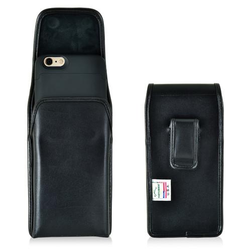 Mophie Juice Pack iPhone 6S+ Plus Holster Juice Pack Air, Space iPhone 6S+ Plus Belt Clip Case, Executive Belt Clip, Vertical Black Leather Pouch - Magnetic Flap Closure