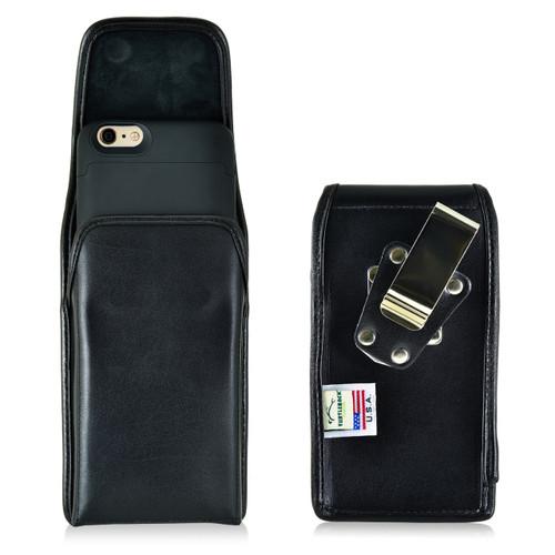 Mophie Juice Pack iPhone 6S+ Plus Belt Clip Case Juice Pack Air, Space iPhone 6S+ Plus Holster with Heavy Duty Metal Rotating Belt Clip - Vertical Black Leather Pouch Magnetic Flap Closure