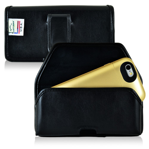 Mophie Juice Pack iPhone 6s Holster Juice Pack Air, Plus, Ultra, Space, iPhone 6S Belt Case, Black Leather Pouch with Executive Belt Clip, Horizontal - Magnetic Flap Closure