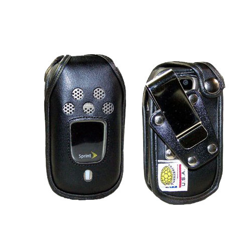 Kyocera DuraXT E4277 Fitted Leather Case, Metal Clip