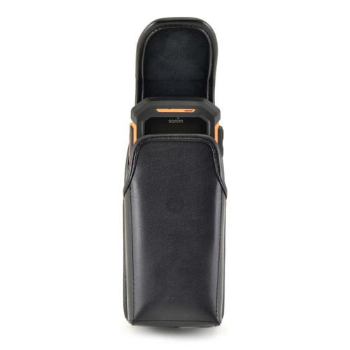 Sonim XP5560 Bolt Leather Holster Pouch, Vertical Metal Belt Clip by Turtleback