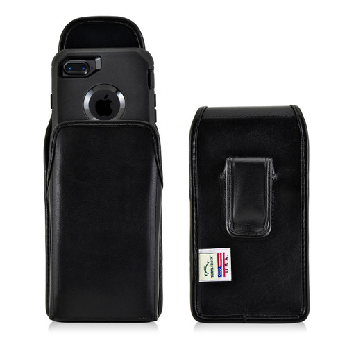 iPhone SE 2020 (2nd Gen), iPhone 7 / 8 Holster Vertical Black Belt Clip Fits Otterbox Defender Case