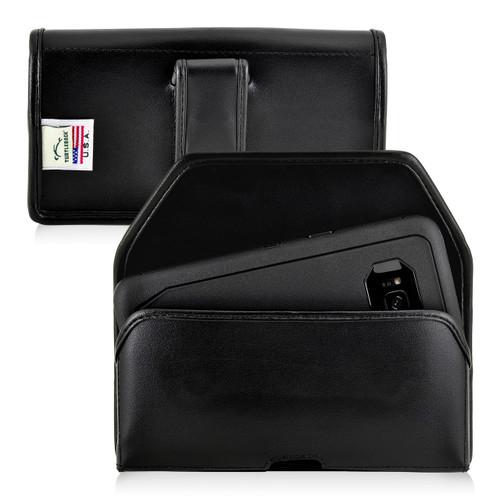 Galaxy S8 Leather Holster Case Black Belt Clip Otterbox Defender