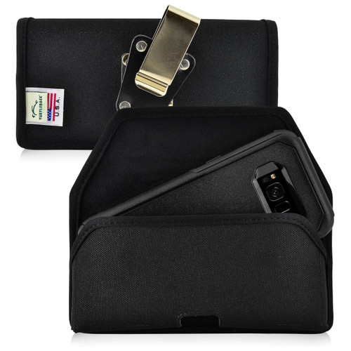 Galaxy S8 Nylon Holster Metal Belt Clip Fits with OTTERBOX Commuter
