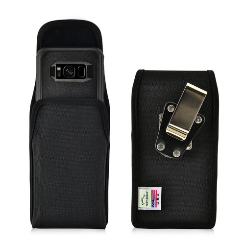 Galaxy S8 Holster Nylon Vertical Metal belt Clip Fits with OTTERBOX Commuter