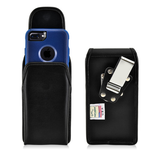 iPhone 6S Leather Vertical Holster Metal Belt Clip Case Fits with OTTERBOX Commuter