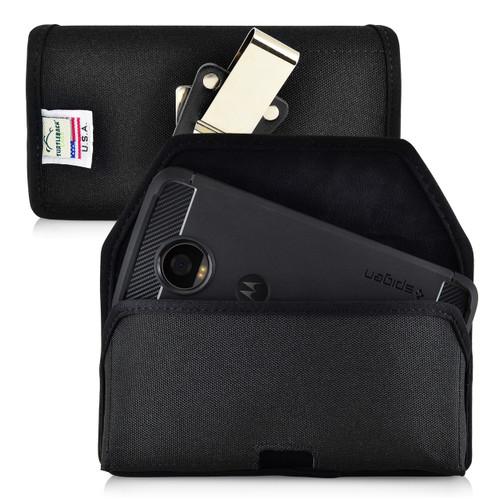 Motorola Moto Z2 Play Holster Metal Belt Clip Case Pouch Nylon