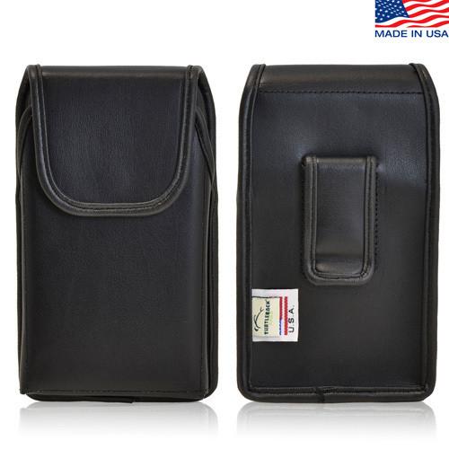 iPhone 5/5S/SE (1st Gen) Extended Vertical Leather Black Belt Clip