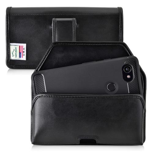 Google Pixel 2 XL Belt Case Fits Slim Case Black Leather Executive Belt Clip