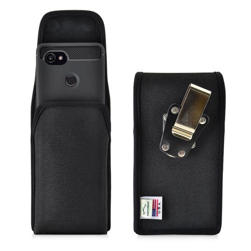 Google Pixel 2 XL Belt Case Fits Slim Case Vertical Black Nylon Heavy Duty Rotating Belt Clip