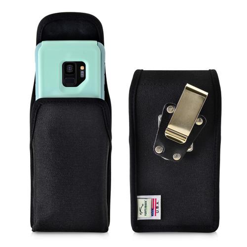 Galaxy S9 Vertical Belt Clip Case for Otterbox COMMUTER Case Rotating Belt Clip Black Nylon