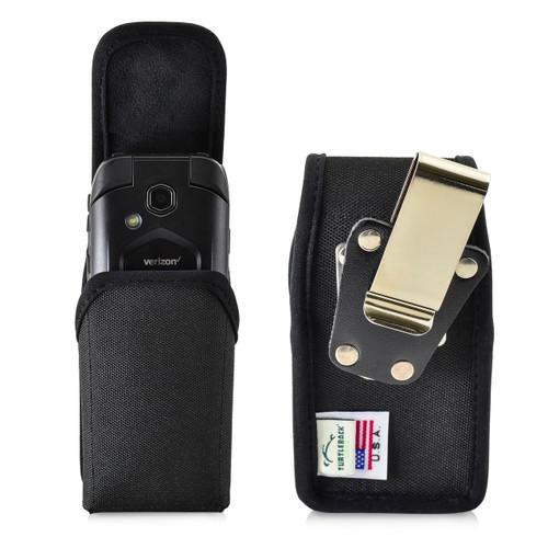 4.38 X 2.25 X 1.15 in -  Black Nylon Pouch Case Rotating Belt Clip Magnet