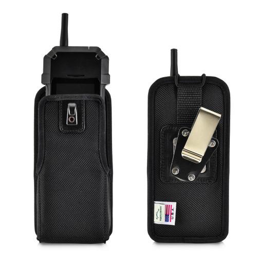 Sonim XP5s XPand Direct Mode Phone Belt Holder, Vertical Black Nylon with Rotating Metal Belt Clip