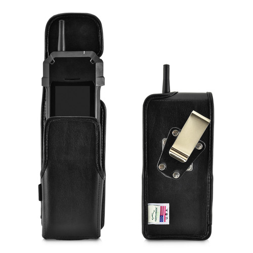 Sonim XP5s XPand Direct Mode Holster Pouch, Vertical Black Leather with Rotating Belt Clip & Magnetic Closure