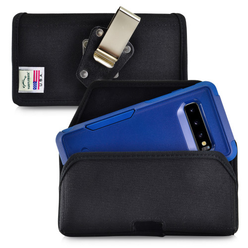 Galaxy S10 Fits with OTTERBOX COMMUTER Black Nylon Holster Pouch Rotating Belt Clip Horizontal