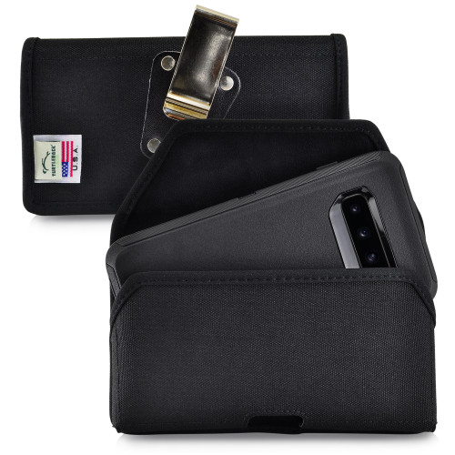 Galaxy S10 Fits with OTTERBOX DEFENDER Black Nylon Holster Pouch Rotating Belt Clip Horizontal