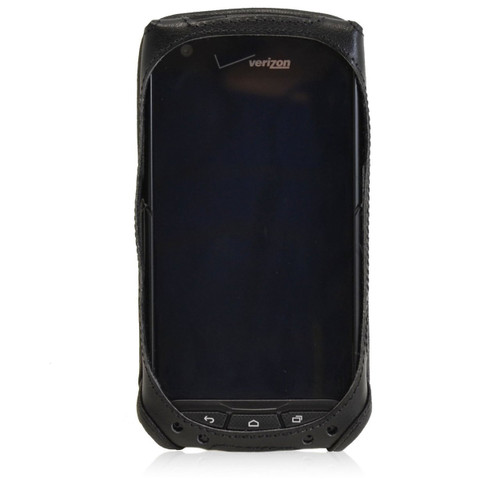 Kyocera Brigadier E6782 Executive Black Leather Case Phone Case with Ratcheting Belt Clip