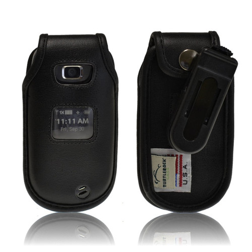 LG Revere 2 Executive Black Leather Case Phone Case with Ratcheting Belt Clip