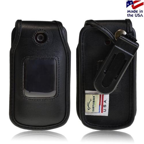 LG Wine 2 UN430 Executive Black Leather Case Phone Case with Ratcheting Belt Clip
