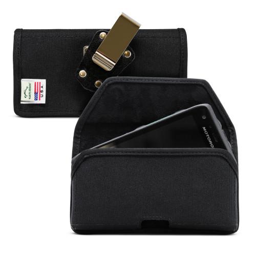 Motorola Lex L11 Belt Holster Black Nylon Pouch with Heavy Duty Rotating Belt Clip, Horizontal