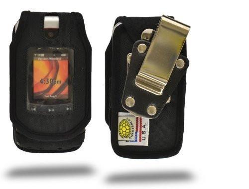 Motorola V750 Adventure Heavy Duty Nylon Phone Case with Rotating Belt Clip