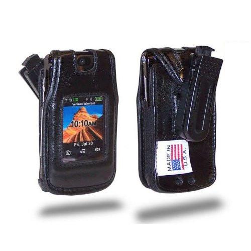 Motorola V950 Turleback Heavy Duty Leather Cell Phone Case