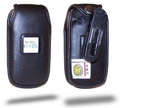 Pantech Breeze C520 Executive Leather Phone Case with Ratcheting Belt Clip
