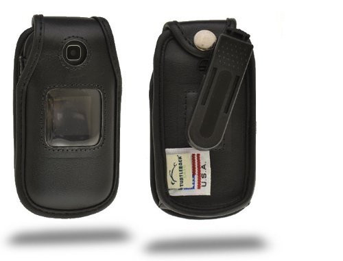 Samsung T159 Executive Black Leather Case with Ratcheting Belt Clip