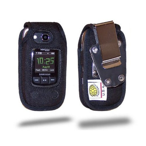 Samsung Convoy 2 U660 Heavy Duty Nylon Fitted Case with Rotating Removable Metal Clip