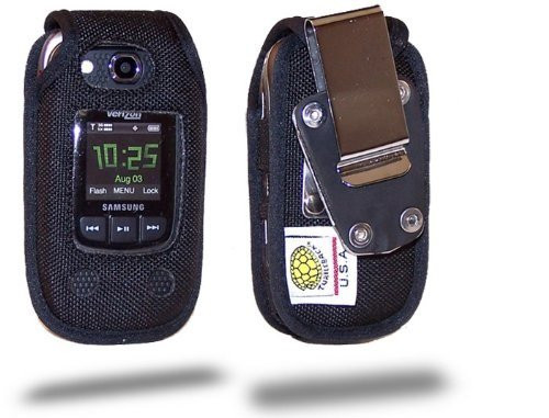 Samsung Convoy 2 U660 Extended Battery Heavy Duty Nylon Phone Case with Rotating Removable Metal Clip
