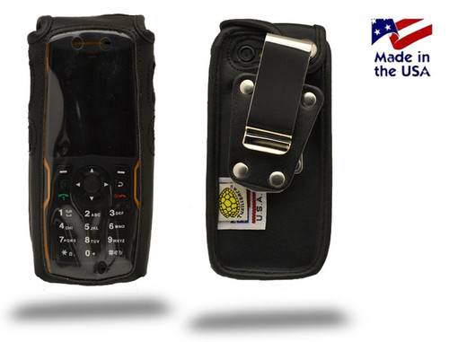 Sonim XP1300 Heavy Duty Leather Fitted Case, Metal Belt Clip by Turtleback