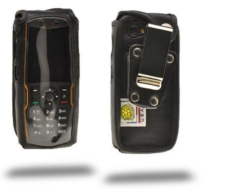 Sonim XP5520 BOLT Heavy Duty Leather Fitted Case, Metal Belt Clip by Turtleback