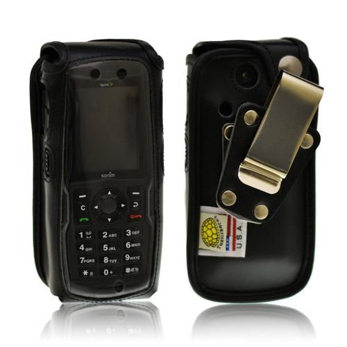 Sonim Strike XP3410 IS Heavy Duty Leather Fitted Case, Metal Belt Clip by Turtleback