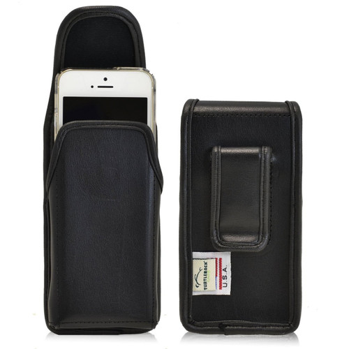 iPhone 5/5S/SE Vertical Leather Fixed Clip Holster