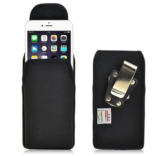 Apple iPhone 6 PLUS (5.5 in.) Vertical Nylon Holster, Metal Belt Clip