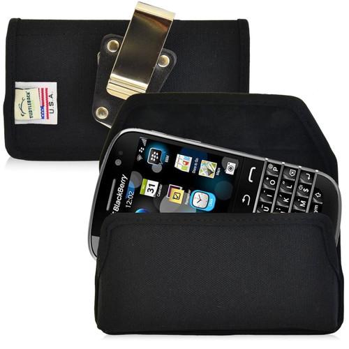 Blackberry Classic Q20 Horizontal Nylon Holster, Metal Belt Clip