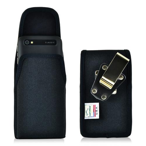 Blackberry Classic Q20 Vertical Nylon Holster, Metal Belt Clip