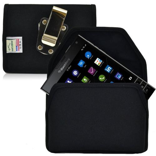 Blackberry Passport Horizontal Nylon Holster, Metal Belt Clip