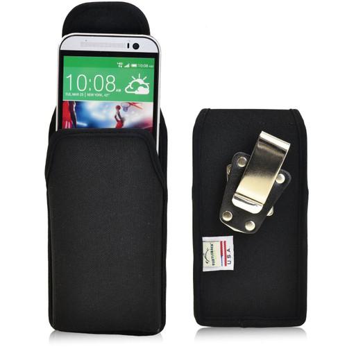 HTC One M8 Vertical Nylon Holster, Metal Belt Clip
