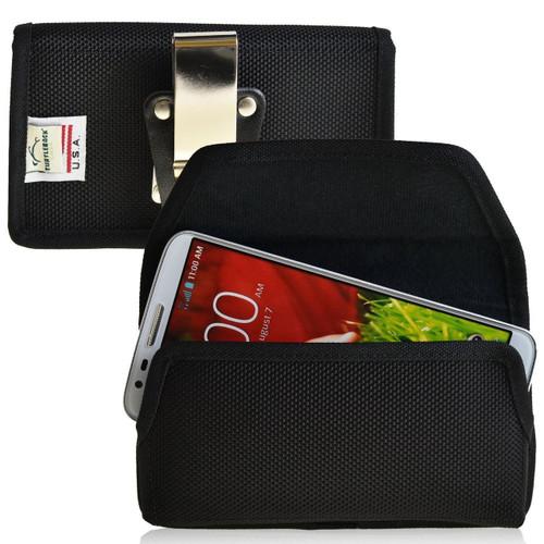 LG G2 Horizontal Nylon Holster, Metal Belt Clip