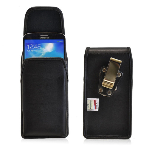 Samsung Galaxy Mega 6.3 Vertical Leather Holster, Metal Belt Clip