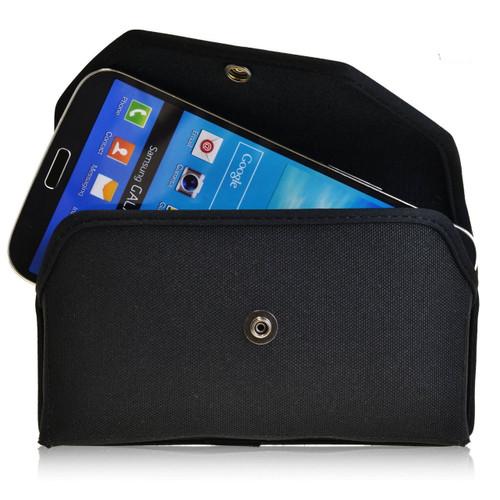 Samsung Galaxy Mega 6.3 Horizontal Nylon Holster, Metal Belt Clip, Snap Closure