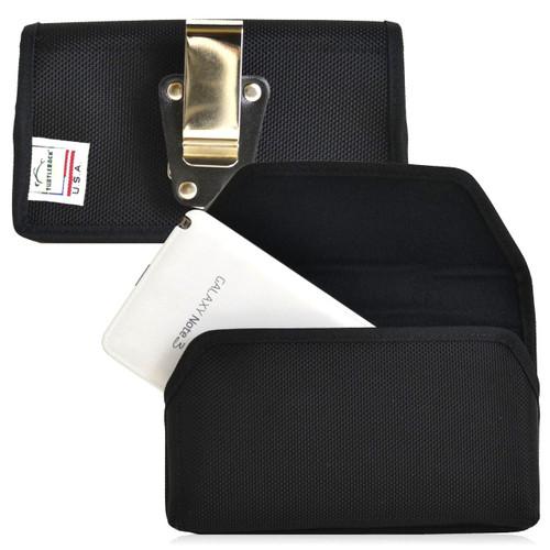 Samsung Galaxy Note 3 III Horizontal Nylon Holster, Metal Belt Clip