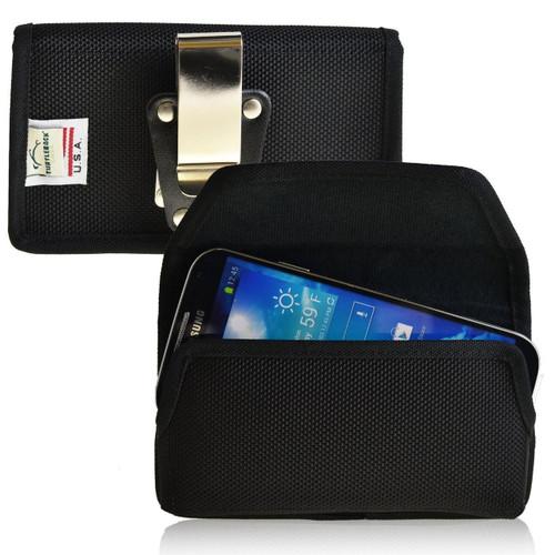 Samsung Galaxy S3 III Horizontal Leather Holster, Metal Belt Clip