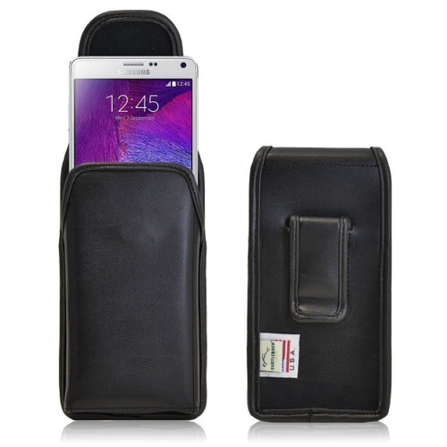 Note 4 Vertical Leather Fixed Clip Holster