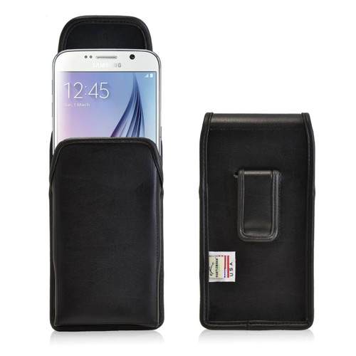 Galaxy S6 Vertical Leather Fixed Clip Holster