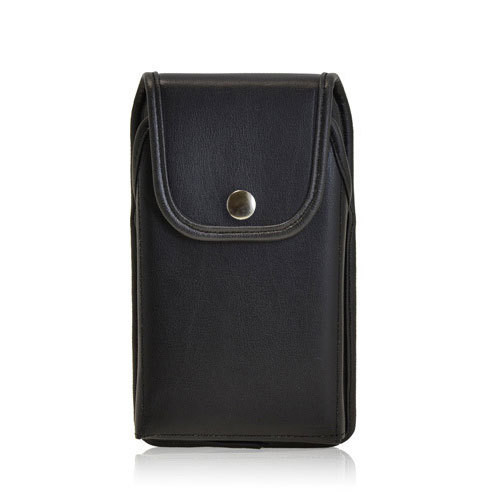 6.75 X 3.50 X 0.50in - Leather Holster Metal Belt Clip with Snap Closure