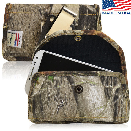 5.50 X 3.00 X 0.62in - Camouflage Nylon Horizontal Holster, Metal Belt Clip