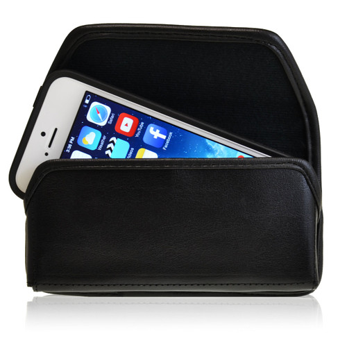 iPhone 5/5S/SE Extended Horizontal Leather Fixed Clip Holster