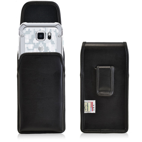Galaxy S6 Active Vertical Leather Fixed Clip Holster